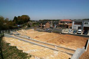 がけ地斜面地の安全な宅地造成施工例写真